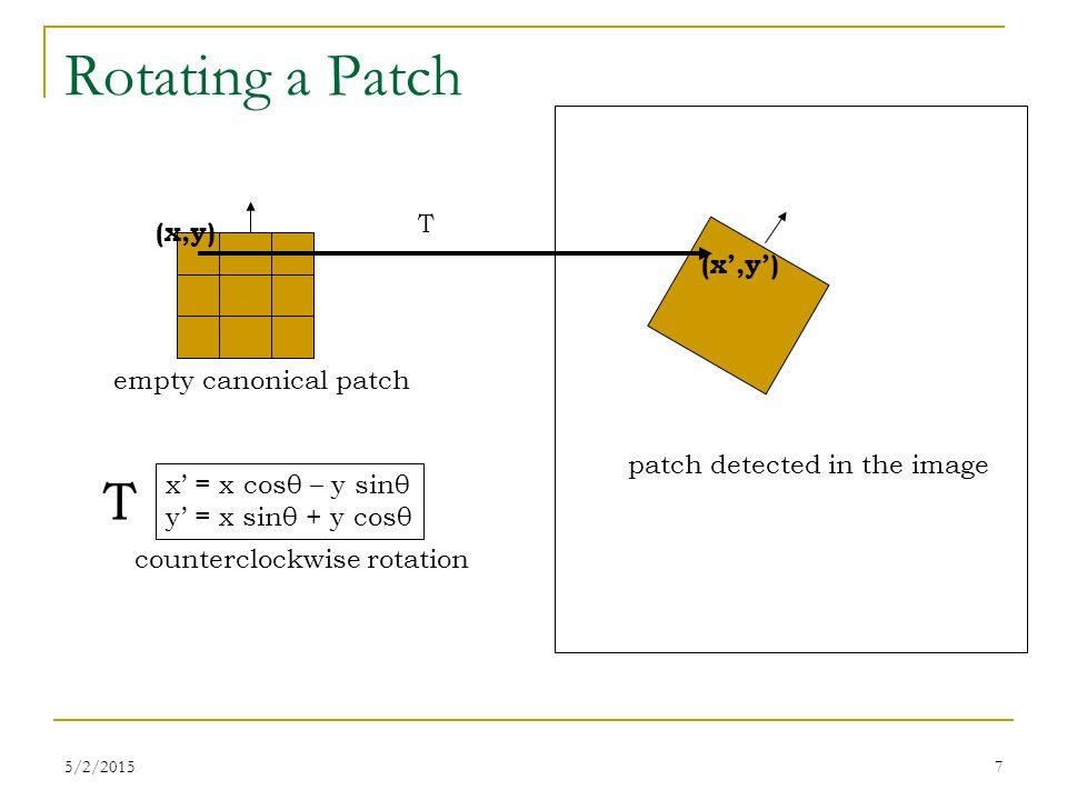 5/2/20158 Using Bilinear Interpolation Use all 4 adjacent samples x y I 00 I 10 I 01 I 11