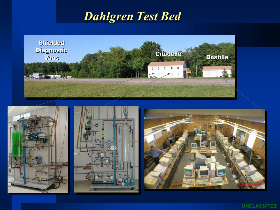 UNCLASSIFIED Dahlgren Test Bed Citadelle Bastille Shielded Diagnostic Vans