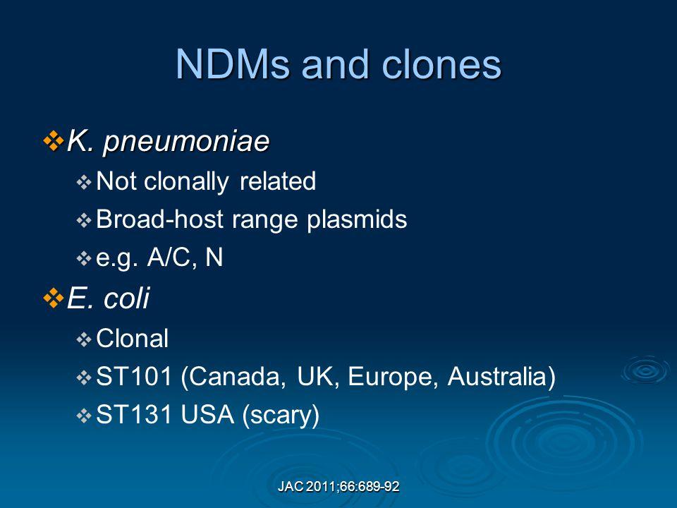 JAC 2011;66:689-92 NDMs and clones  K.
