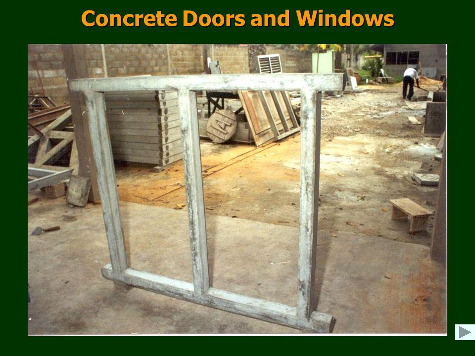 Concrete Doors and Windows