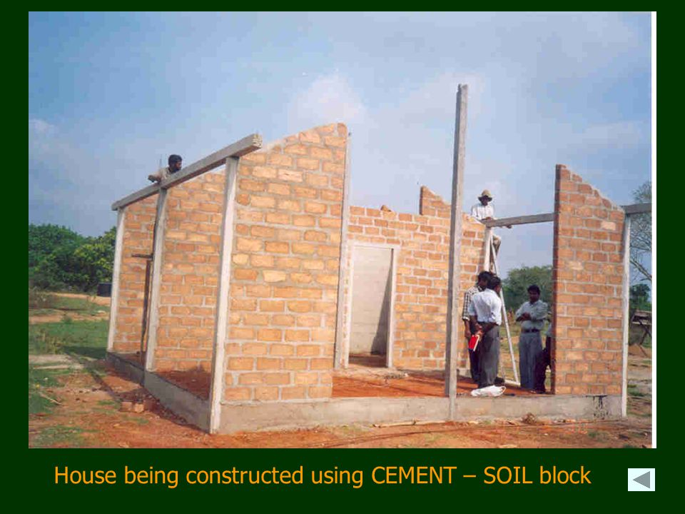 House being constructed using CEMENT – SOIL block