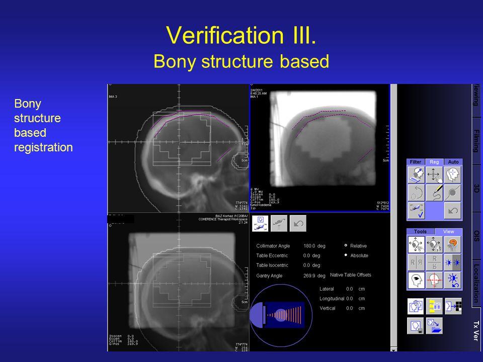 Verification III. Bony structure based Bony structure based registration