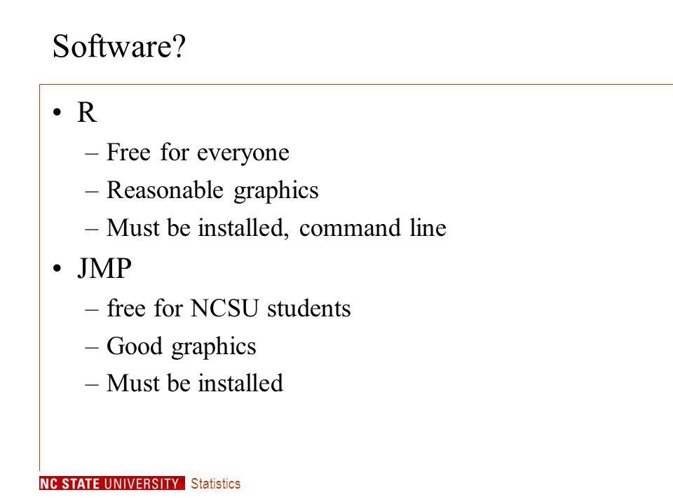 Statistics Software.