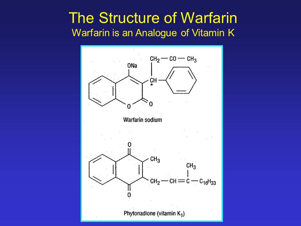 The Structure of Warfarin Warfarin is an Analogue of Vitamin K