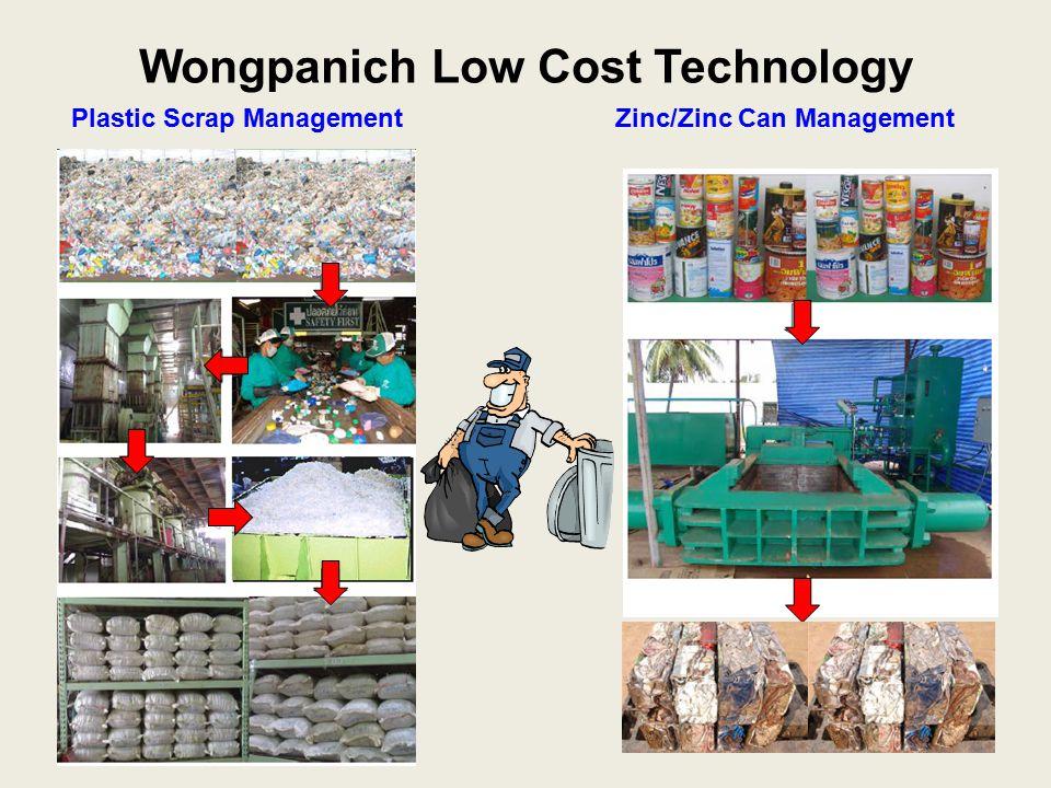 Wongpanich Low Cost Technology Plastic Scrap Management Zinc/Zinc Can Management