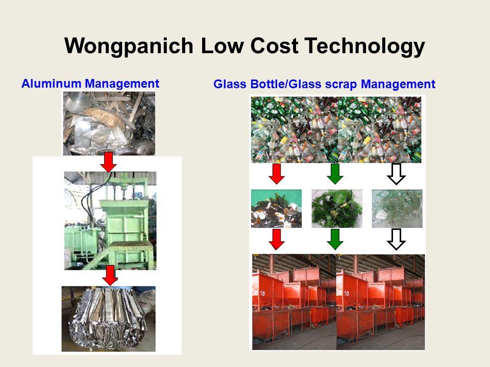 Glass Bottle/Glass scrap Management Wongpanich Low Cost Technology Aluminum Management