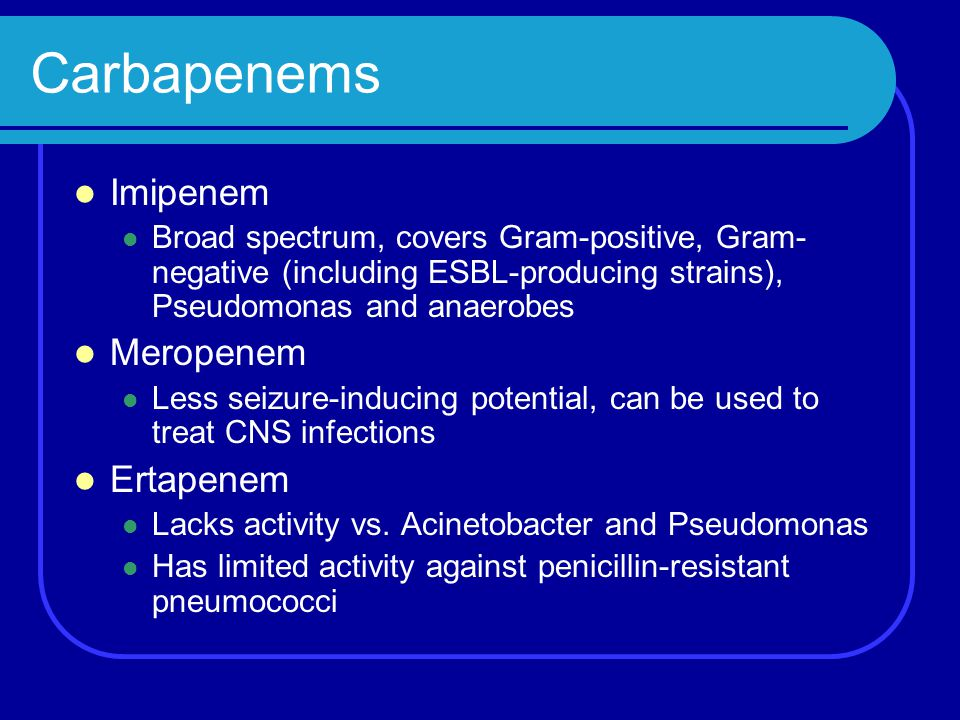 Case 5 Patient was given Unasyn + gentamicin for her hospital acquired pneumonia Question Any treatment options for pan-resistant strains?