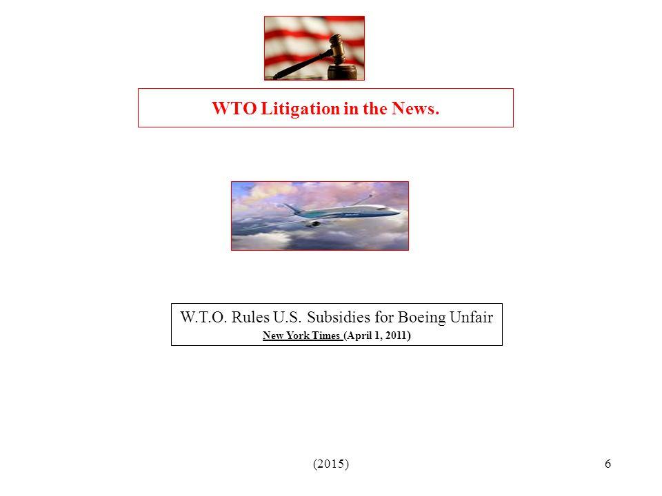 (2015)6 W.T.O.Rules U.S.
