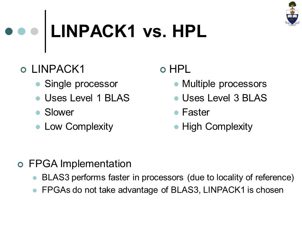 LINPACK1 vs.