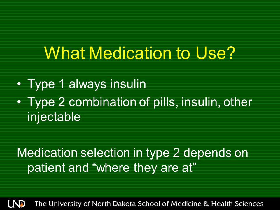 What Medication to Use.