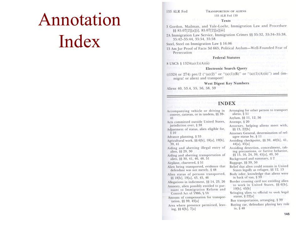 Annotation Index