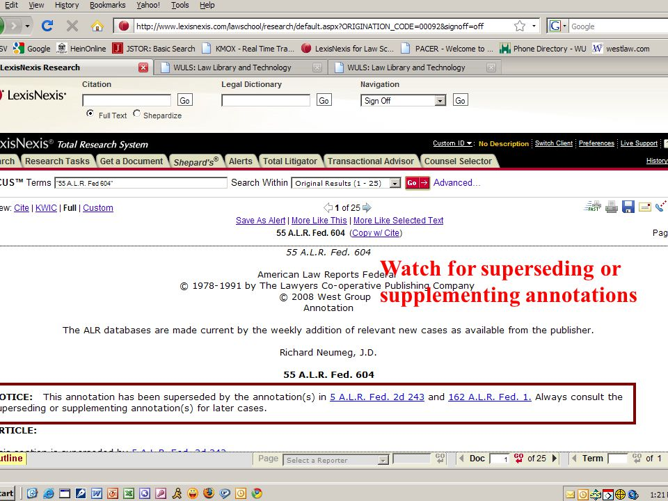 Watch for superseding or supplementing annotations