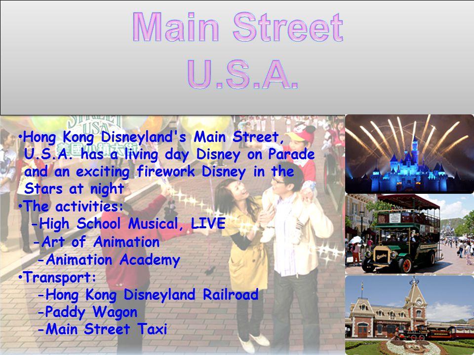 Hong Kong Disneyland s Main Street, U.S.A.