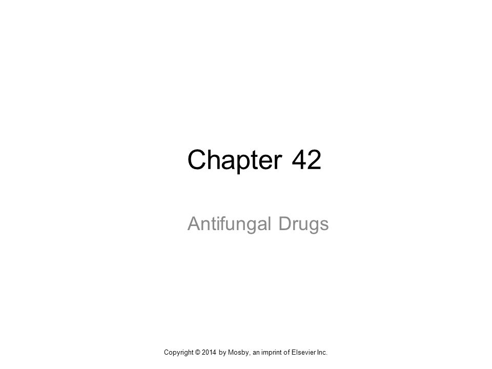 Chapter 42 Antifungal Drugs Copyright © 2014 by Mosby, an imprint of Elsevier Inc.