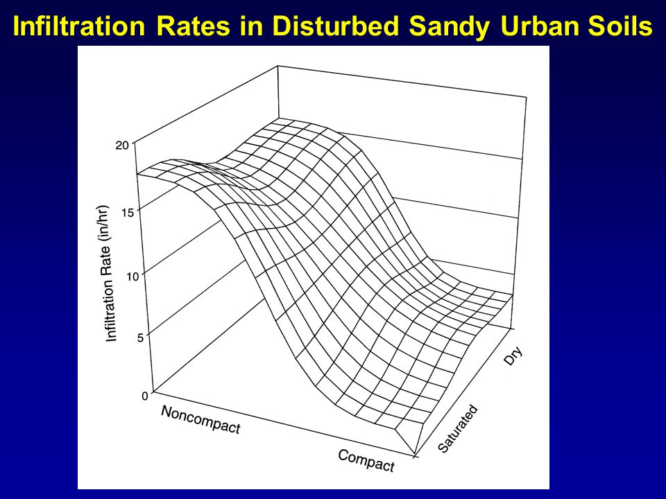 Infiltration Rates in Disturbed Clayey Urban Soils