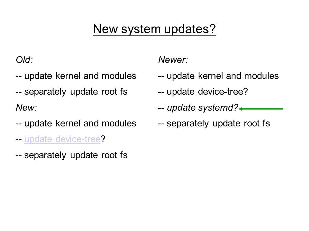 New system updates.
