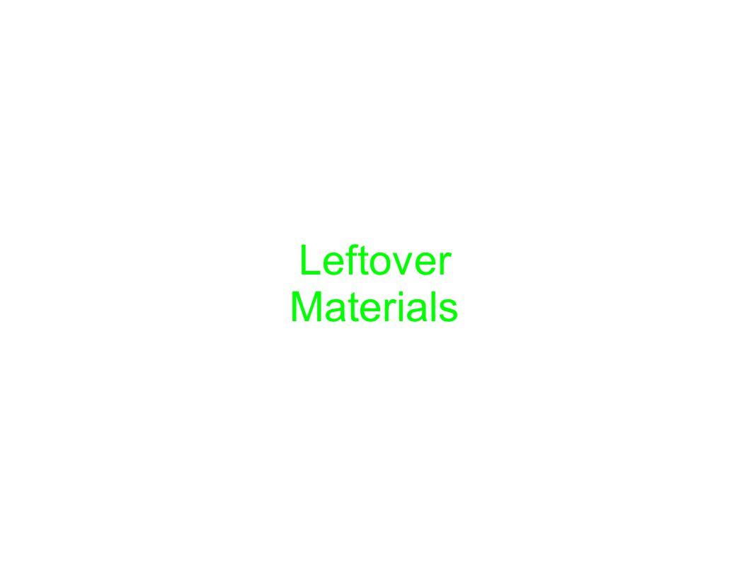 Leftover Materials