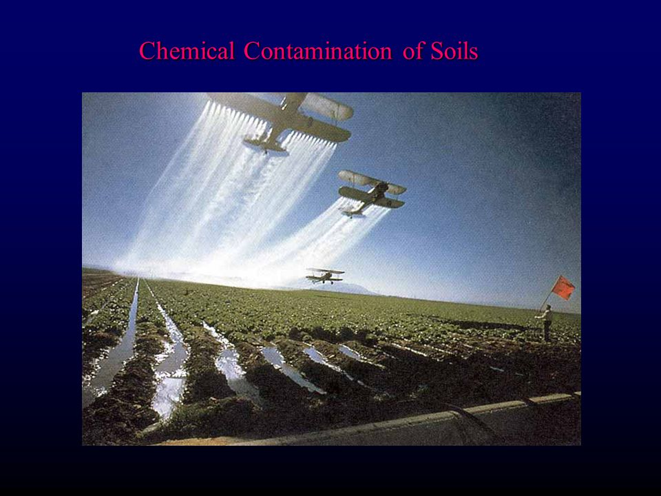 Chemical Contamination of Soils