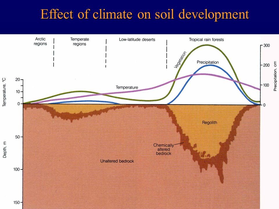 Effect of climate on soil development