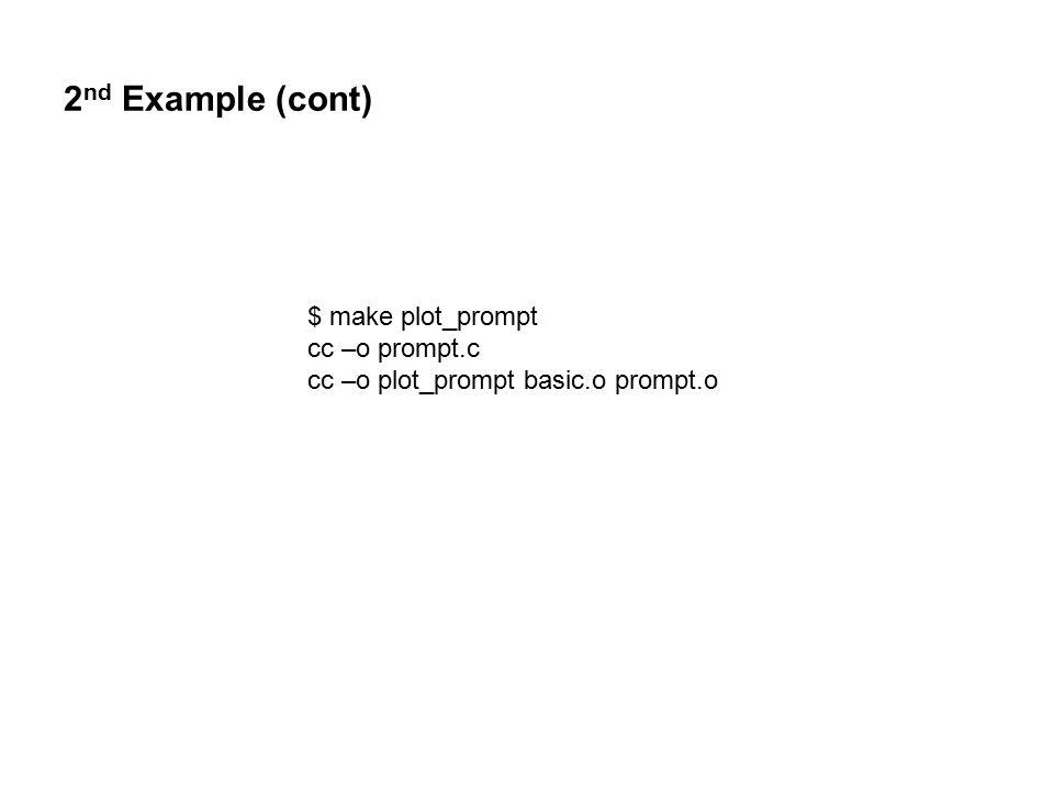1 st makefile revisited C_OBJS = main.o iodat.o dorun.o OBJS = ${C_OBJS} lo.o LIB = /usr/lib/crtn.a program: ${OBJS} ${LIB} ${CC} –o $@ ${OBJS} ${LIB} ${C_OBJS} : $${@:.o=.c}$${@:.o=.c} ${CC} –c $.
