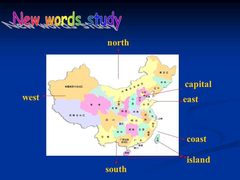north south west east capital coast island