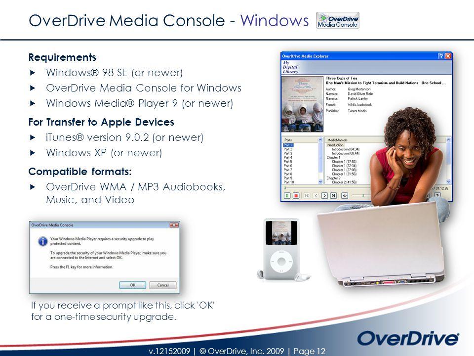 v.12152009 | © OverDrive, Inc.