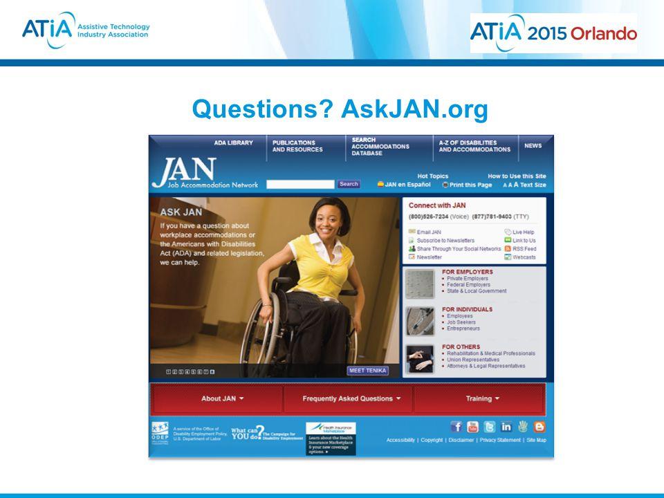 Questions AskJAN.org