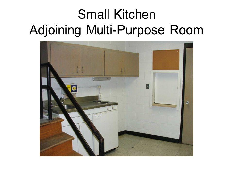 Small Kitchen Adjoining Multi-Purpose Room