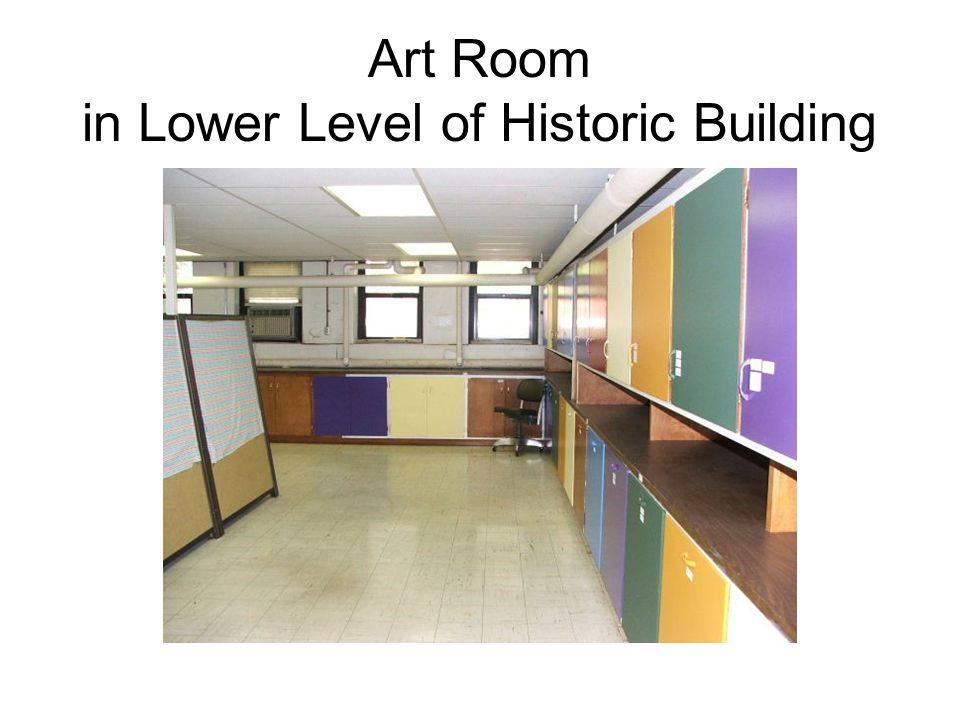 Art Room in Lower Level of Historic Building