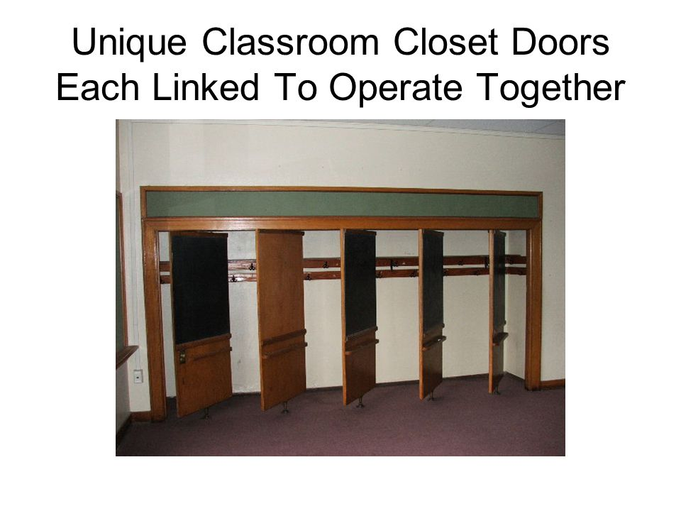 Unique Classroom Closet Doors Each Linked To Operate Together