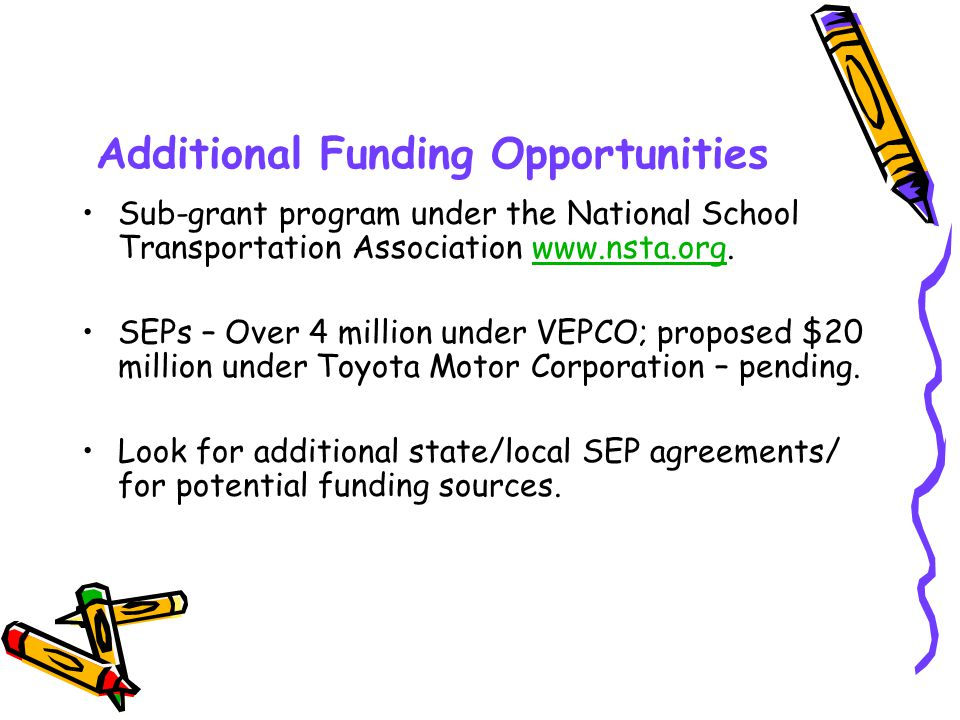 VEPCO-Funded Projects Virginia Electric Power Company is funding numerous diesel school bus retrofit projects in Region 3.