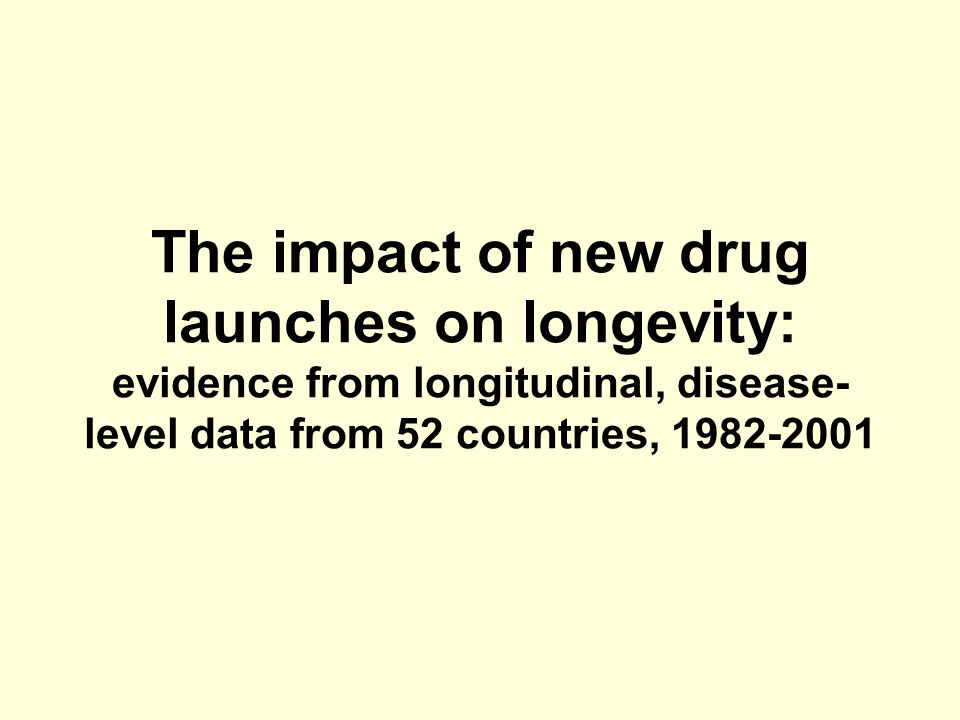 The impact of new drug launches on longevity: evidence from longitudinal, disease- level data from 52 countries, 1982-2001