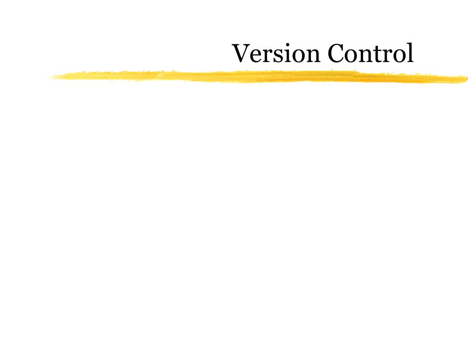 Why version control.