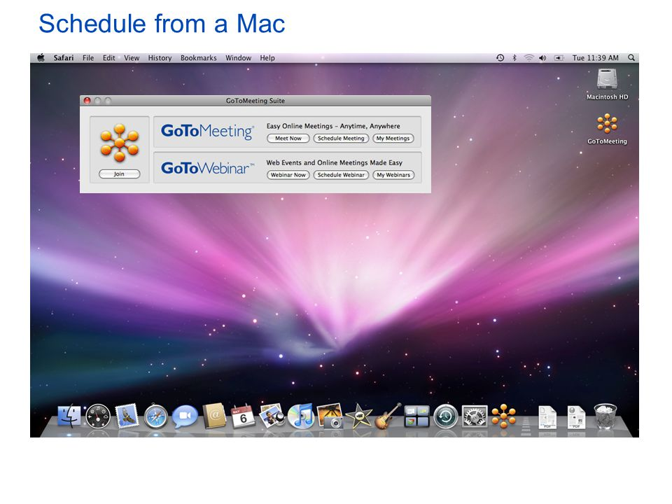 Schedule from a Mac