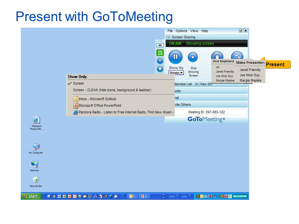 Present with GoToMeeting Present