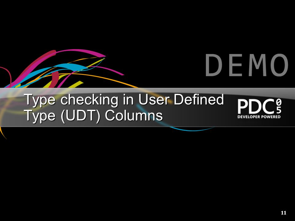 11 Type checking in User Defined Type (UDT) Columns