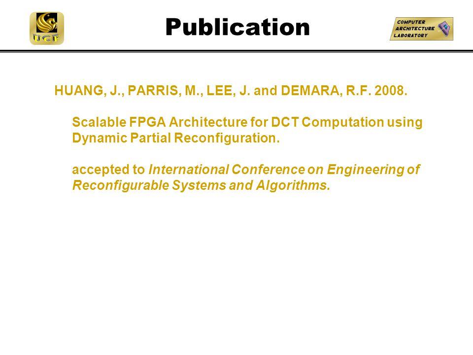 Publication HUANG, J., PARRIS, M., LEE, J. and DEMARA, R.F.