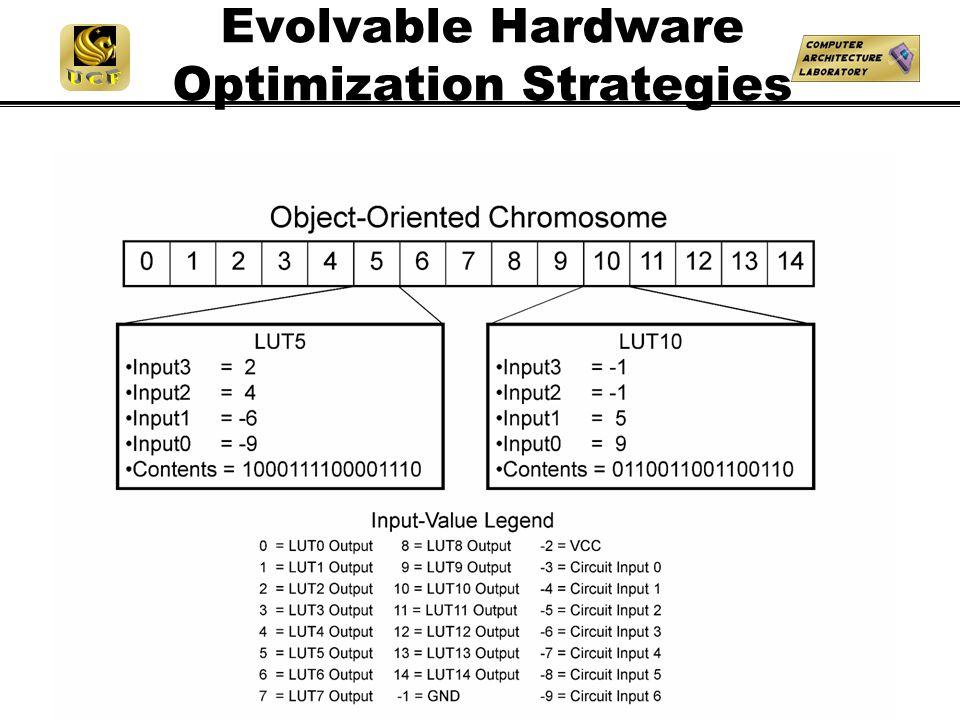 Evolvable Hardware Optimization Strategies