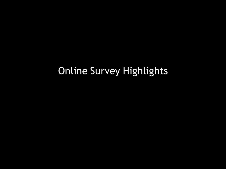 Online Survey Highlights