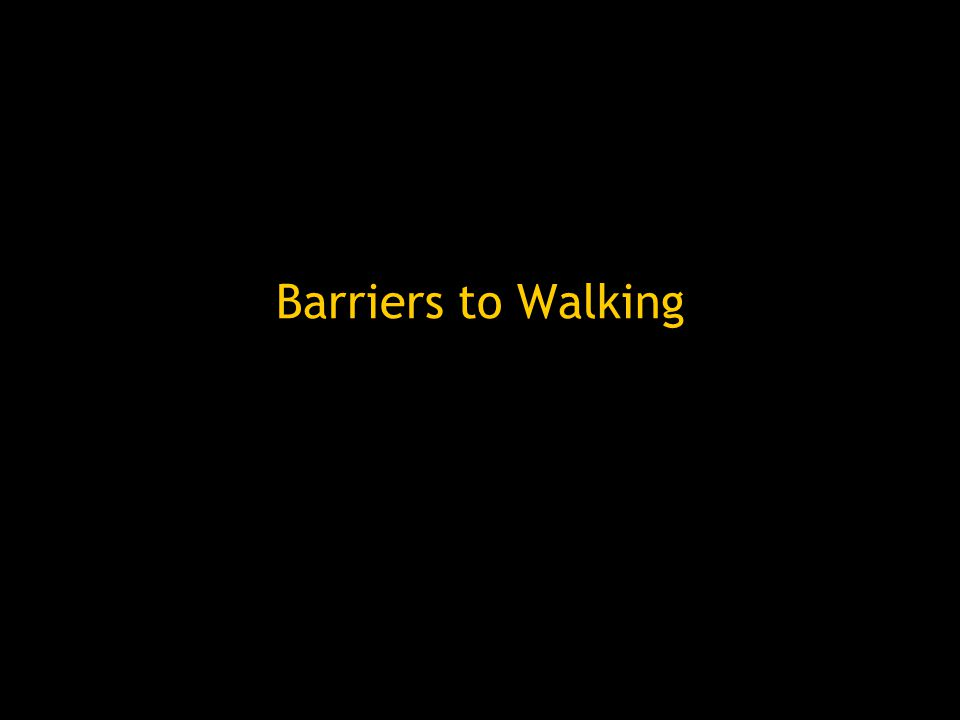 Barriers to Walking
