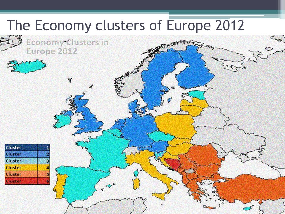 The Economy clusters of Europe 2012