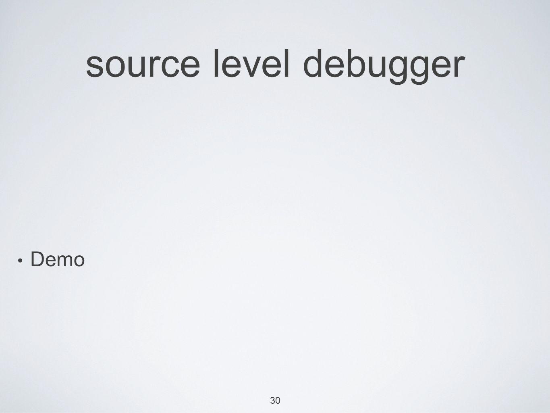 30 source level debugger Demo