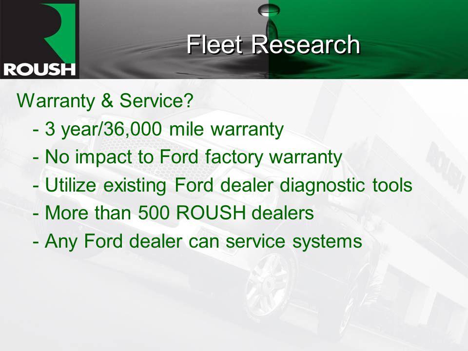 Fleet Research Warranty & Service.