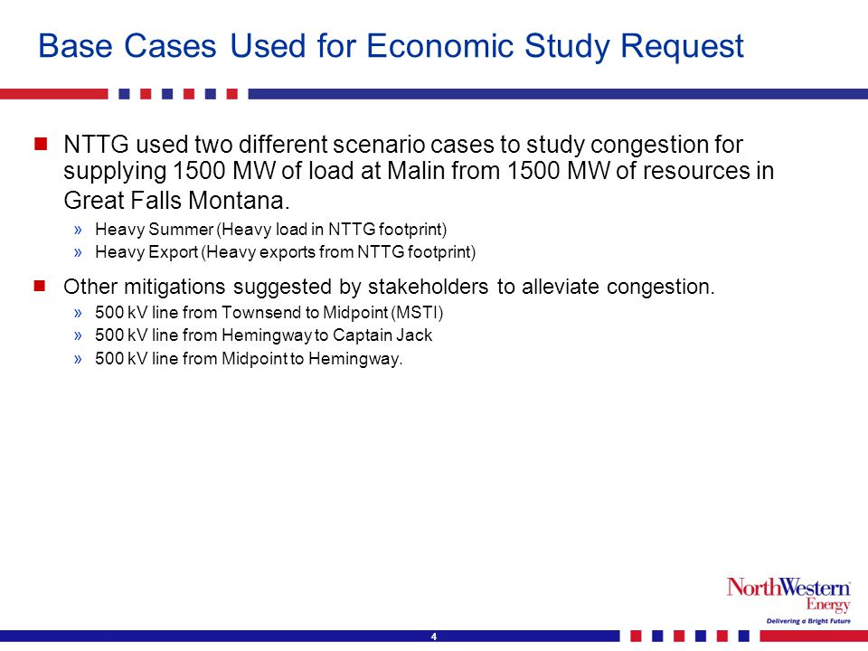 5 Conclusions of Economic Study Request   Conclusions of the Study » »Heavy Summer Case: ♦ ♦ 1500 MW transfer can be accommodated in the base case (N-0) without adding any transmission upgrades.