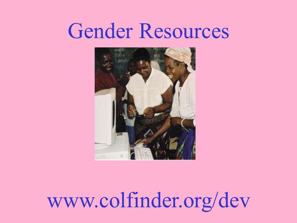 Gender Resources www.colfinder.org/dev