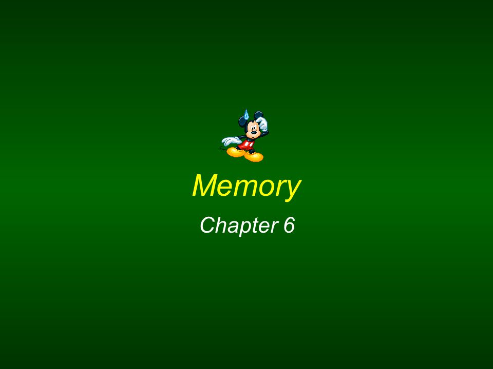 Chapter 6 Menu Memory and the three processes of memory Different models of how memory works Sensory memory Short-term or working memory Long-term memory Different types of long-term memory How information is organized in long-term memory Kinds of cues that help people remember How recall and recognition differ 10 Reliability of eye witness testimony Flashbulb memory How long-term memories are formed Problems experienced with remembering a long-term memory False memory syndrome Different causes of forgetting How and where memories are formed in the brain Helping people with Alzheimer's disease