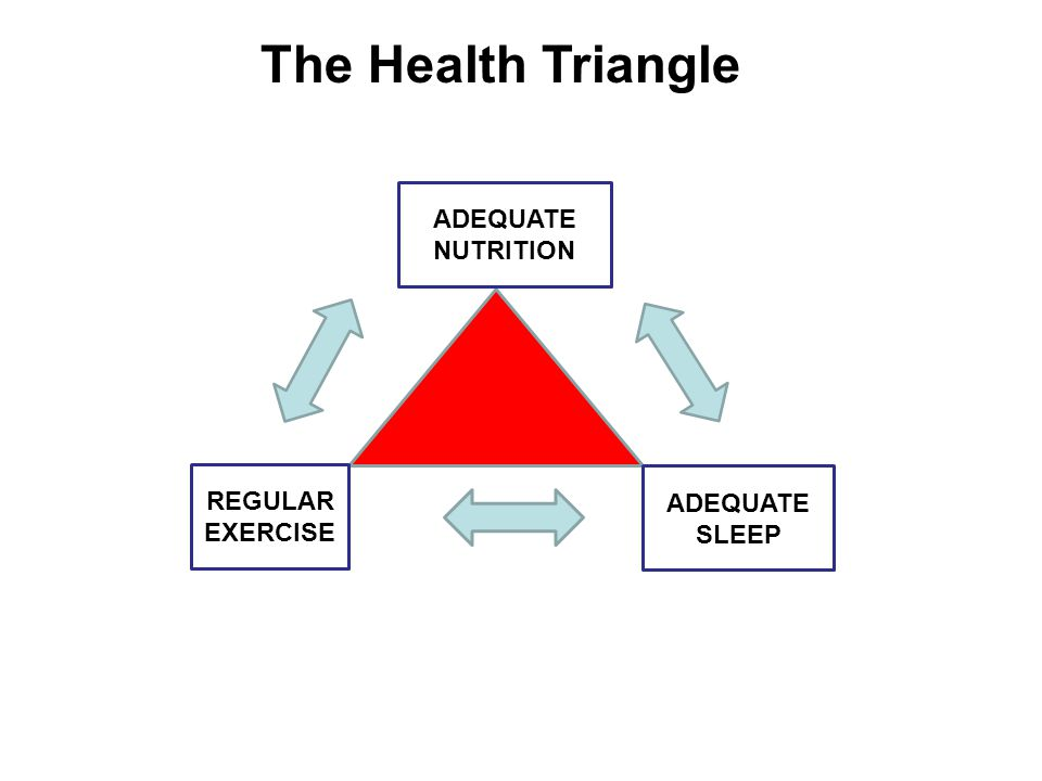 ADEQUATE NUTRITION ADEQUATE SLEEP REGULAR EXERCISE The Health Triangle