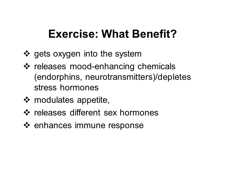 Exercise: What Benefit.