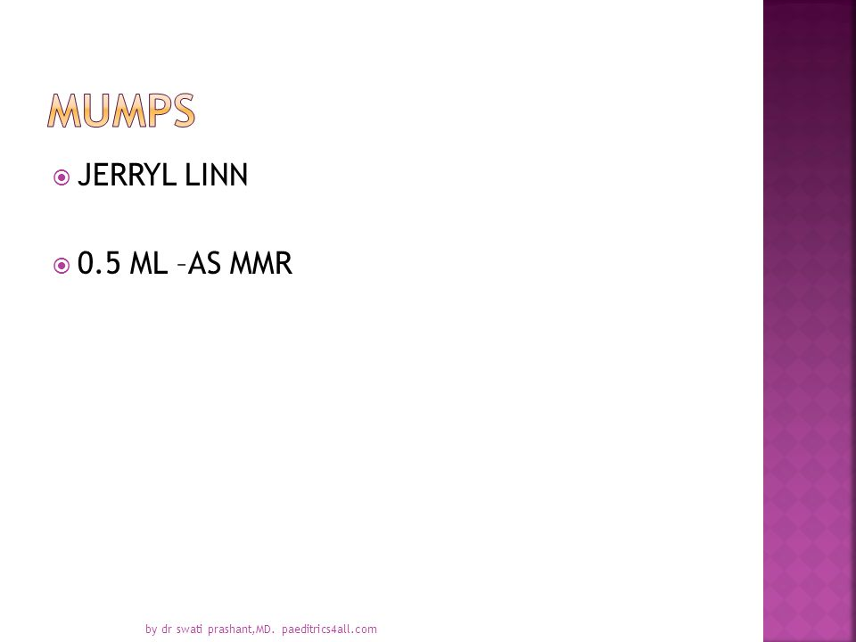  JERRYL LINN  0.5 ML –AS MMR by dr swati prashant,MD. paeditrics4all.com
