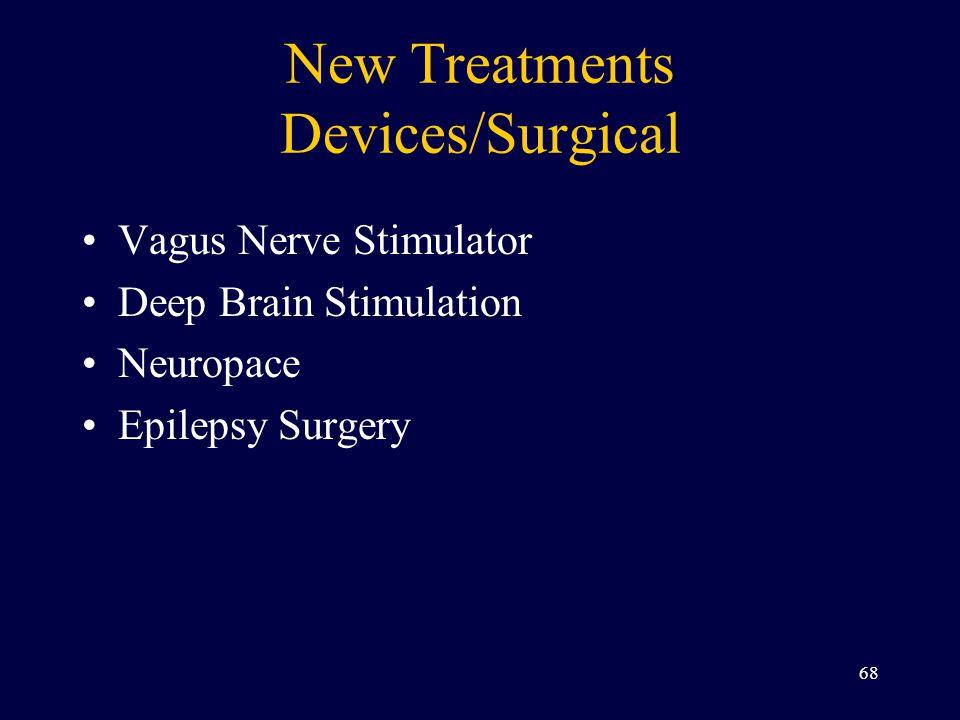 New Treatments Devices/Surgical Vagus Nerve Stimulator Deep Brain Stimulation Neuropace Epilepsy Surgery 68